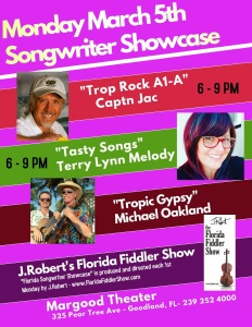 JRobert's Songwriter Showcase